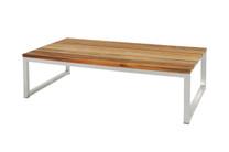 OKO Rectangular Table - Stainless Steel, Recycled Teak
