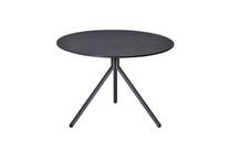BONO Low Table - Powder-Coated Aluminum (black), HPL top (slate)