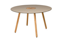 BONO Dining Table - Recycled Teak, High Pressure Laminate (HPL) in Sandstone