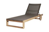 EKKA Teak Lounger - Plantation Teak (smooth sanded), Powder-Coated Aluminum (black)