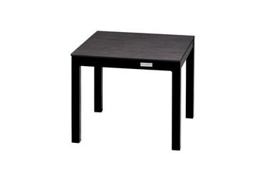 EKKA Medium End Table - Powder-Coated Aluminum (black), High Pressure Laminate (HPL - slate)