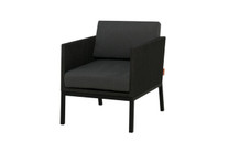 JAYDU 1-Seater - Powder-Coated Aluminum (black), Twitchell Upholstery (black), Sunbrella Cushions