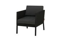 JAYDU 1-Seater - Powder-Coated Aluminum (black), Twitchell Upholstery (black), Sunbrella Cushions