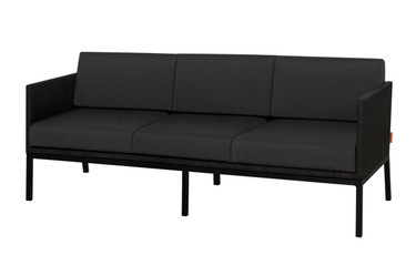 JAYDU 3-Seater - Powder-Coated Aluminum, Twitchell Leisuretex (black), Sunbrella