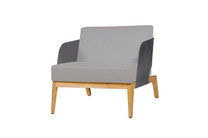 KAAT 1-Seater - Powder-Coated Aluminum (anthracite), Plantation Teak (smooth sanded), Sunbrella Canvas (taupe)