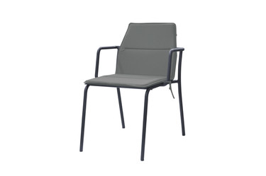 MANDA Dining Chair with Optional Cushion (taupe) - Powder-Coated Aluminum (taupe)