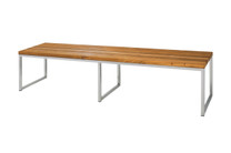 "OKO Bench 73"" - Stainless Steel, Recycled Teak"