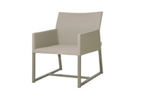 MONO Casual Chair - Powder-Coated Aluminum (taupe), Twitchell Leisuretex Upholstery (taupe)