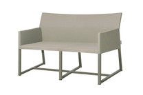 MONO Casual Love Seat - Powder-Coated Aluminum (taupe), Twitchell Leisuretex Upholstery (taupe)