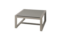 MONO Square Table - Powder-Coated Aluminum, High Pressure Laminate (HPL - sandstone)