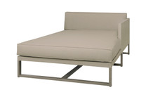 MONO Left Chaise - Powder-Coated Aluminum (taupe), Twitchell Leisuretex (taupe) Sunbrella Canvas (taupe)