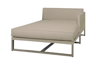 MONO Left Chaise - Powder-Coated Aluminum (taupe), Twitchell Leisuretex (taupe) Sunbrella Canvas (taupe)