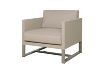 MONO Sofa 1-Seater Armchair - Powder-Coated Aluminum (taupe), Twitchell Leisuretex (taupe) Sunbrella Canvas (taupe)