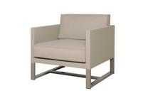 MONO Sofa 1-Seater Armchair - Powder-Coated Aluminum (taupe), Twitchell Leisuretex (taupe) Sunbrella Canvas (taupe)