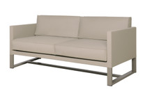 MONO Sofa 2-Seater Loveseat- Powder-Coated Aluminum (taupe), Twitchell Leisuretex (taupe) Sunbrella Canvas (taupe)