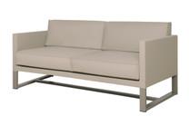 MONO Sofa 2-Seater Loveseat- Powder-Coated Aluminum (taupe), Twitchell Leisuretex (taupe) Sunbrella Canvas (taupe)