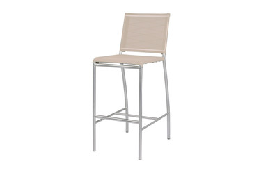 NATUN Bar Chair - Stainless Steel, Batyline Canatex (hemp)
