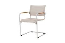 NATUN Cantilever Chair - Stainless Steel, Batyline Canatex (hemp)