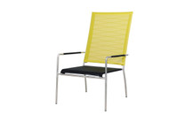 NATUN High Back Chair - Stainless Steel, Batyline Standard (black/lime)