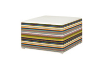 STRIPE Stool - Twitchell Stripes Textilene (green barcode), Stamskin (white)