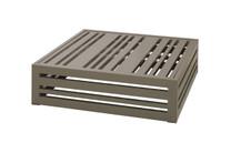 YUYUP Side Table - Powder-coated aluminum (taupe)
