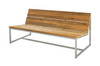 """OKO Casual Bench 59"""" - Stainless Steel, Recycled Teak"""