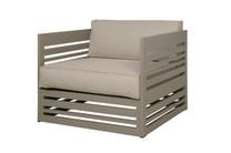 YUYUP Sofa 1-Seater Armchair - Powder-coated aluminum (taupe), Sunbrella Canvas (taupe)