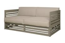 YUYUP Sofa 2-Seater - Powder-coated aluminum (taupe), Sunbrella Canvas (taupe)