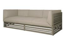 YUYUP Sofa 3-Seater - Powder-coated aluminum (taupe), Sunbrella Canvas (taupe)