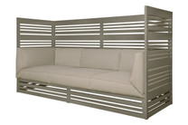 YUYUP Privacy Sofa - Powder-coated aluminum (taupe), Sunbrella Canvas (taupe)