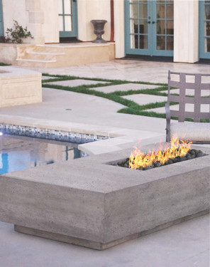 Tavola V Fire Table (pewter)