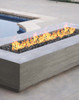 Tavola VI Fire Table (GFRC in pewter with lava rock)