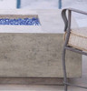 Tavola VI Fire Table (GFRC in pewter with optional fire glass)