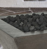 Lombard Fire Pit (glass-fiber reinforced cement in pewter with lava rock)