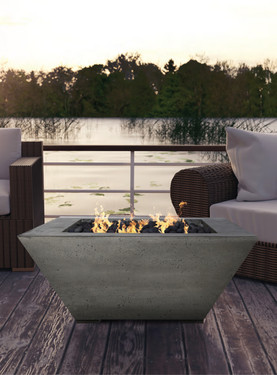 Lombard Fire Pit (glass-fiber reinforced cement in pewter)
