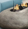 Pebble Fire Pit (glass-fiber reinforced cement in pewter with lava rock)