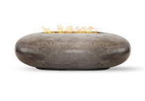 Pebble Fire Pit (glass-fiber reinforced cement in pewter)