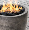 Pentola I Fire Pit (glass-fiber reinforced cement in pewter with lava rock)