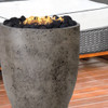 Pentola II Fire Pit (glass fiber reinforced cement in pewter with lava rock)