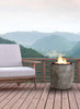 Pentola II Fire Pit (glass fiber reinforced cement in pewter)