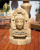 Buddha Fountain outdoor wall accent water feature (GFRC in ancient finish)