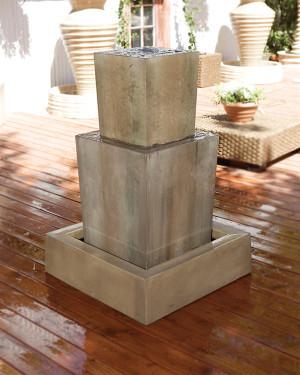 Double Obtuse Fountain (GFRC in Sierra finish)