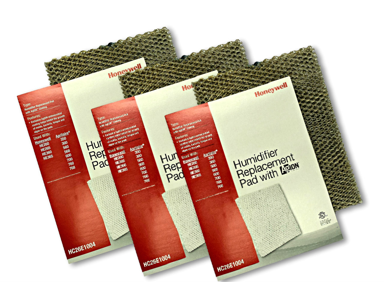 Honeywell Hc26e1004 Humidifier Pad With Agion Anti Microbial Coating Aprilaire 700 Wiring Diagram 3 Pack Of Pads Shield For Use In Furnace