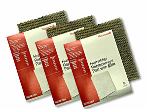 Honeywell HC26E1004 3 pack of humidifier pads with Agion anti microbial shield for use in furnace and heat pump humidifiers.