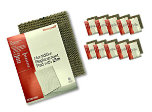 Honeywell HC26E1004 10 pack of humidifier pads with Agion anti microbial shield for use in furnace and heat pump humidifiers.