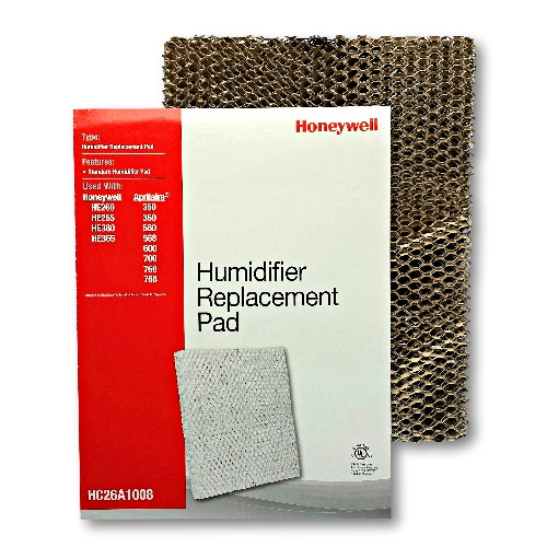 Honeywell HC26A1008 humidifier pad for use with furnace and heat pump humidifiers.