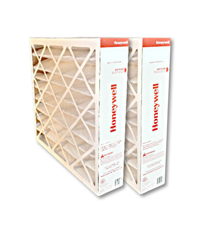 Honeywell FC100A1029 16x25 MERV11 pleated media air filter for use with heat pump, furnace or air conditioner.