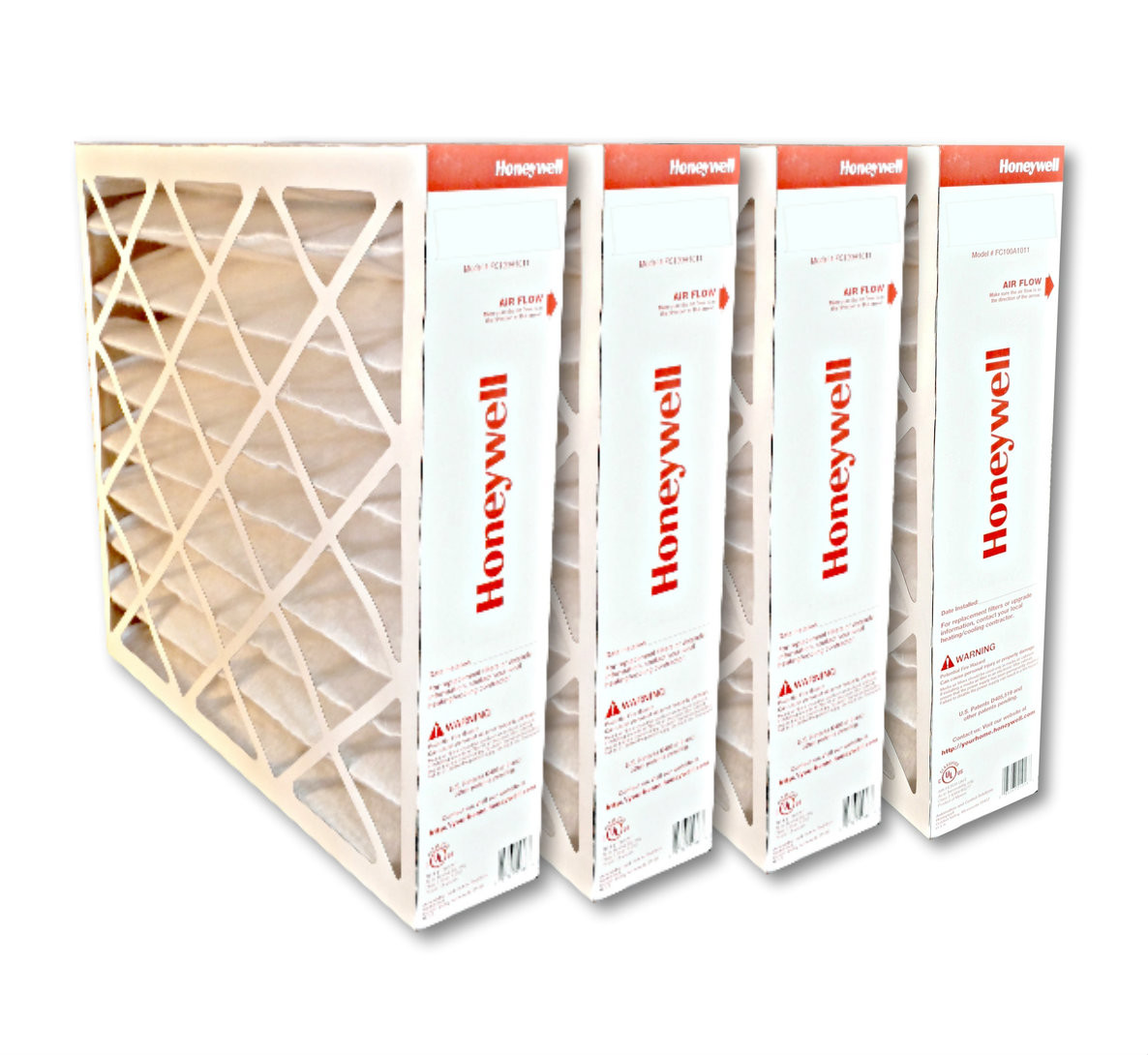 Honeywell FC100A1037 20x25 MERV11 pleated media air filter for use with  heat pump, furnace or