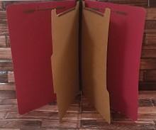 Classification Folders 6 - Part - 2 Dividers - 10 Each