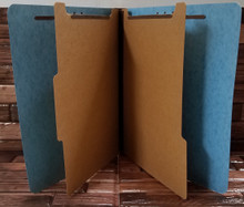 Blue Classification Folders - 6-part (100 per box)